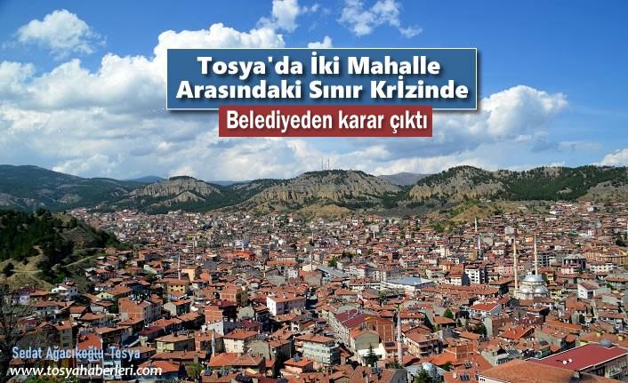 Tosya'da İki Mahalle Arasında ki Sınır Krizine Belediye Son Noktayı Koydu