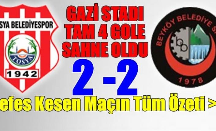 Son Dakika: Tosya BelediyeSpor Beyköy Belediyesi Maçında 4 Gol Var