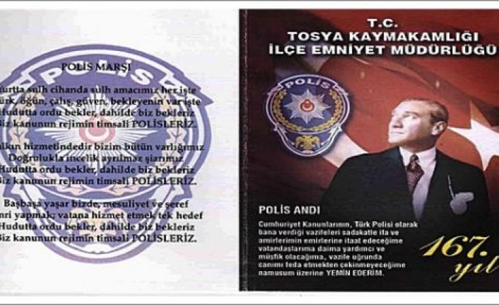 TOSYA EMNİYET MÜDÜRLÜĞÜ POLİS HAFTASI  ETKİNLİKLERİ BAŞLADI
