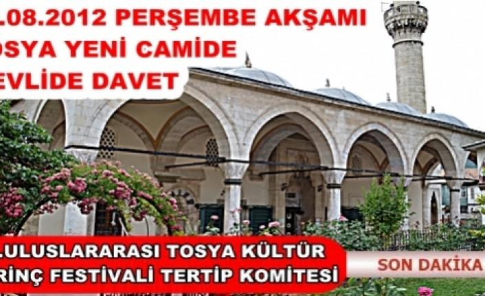 TOSYA FESTİVALİ MEVLİDİ ŞERİF İLE BAŞLIYOR