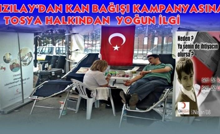 Tosya Kızılay Kan Bağışı Kampanyası Başladı