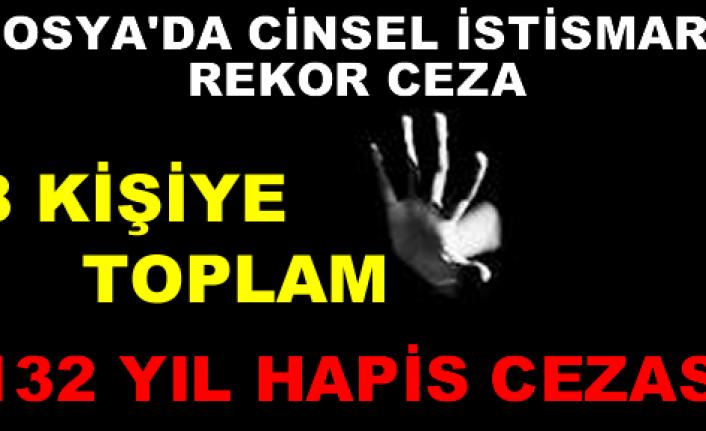 Tosya'da Cinsel İstismara TOPLAM 132 YIL HAPİS CEZASI