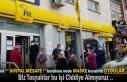 Tosya PTT Şubesi Öününde Vatandaşlar Sosyal Mesafe...