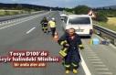 Tosya D100'de Seyir Halinde Minibüs Alev Aldı
