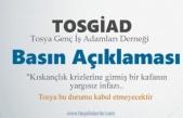 TOSYA GENÇ İŞ ADAMLARI DERNEĞİ BASIN AÇIKLAMASI