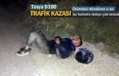 TOSYA D100'DE MOTOSİKLET KAZASI