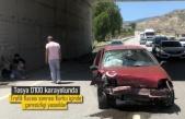 TOSYA D100 KARAYOLUNDA TRAFİK KAZASINDA BİR AİLE ÖLÜMDEN DÖNDÜ