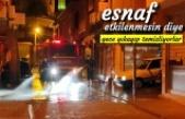 Tosya İtfaiyesi Gece Sokakları Yıkadı