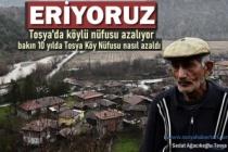 TOSYA KÖYLERİNDE NÜFUS HIZLA ERİYOR