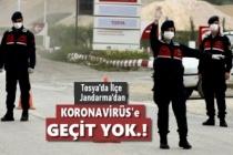 Tosya Jandarma Ekipleri  İlçenin Tüm Giriş ve Çıkışlarını Tuttu