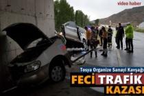 TOSYA ORGANİZE SANAYİ KAVŞAĞINDA FECİ TRAFİK KAZASI