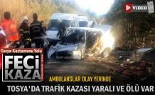 SON DAKİKA - TOSYA KASTAMONU YOLUNDA ÖLÜMLÜ TRAFİK KAZASI