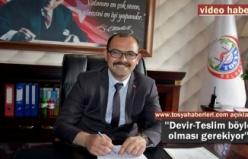 Tosya Belediye Başkanı Volkan Kavaklıgil ilk demeçi