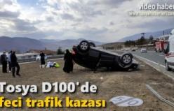 TOSYA AKÇAKAVAK KAVŞAĞI TRAFİK KAZASI