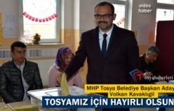 MHP TOSYA BELEDİYE BAŞKAN ADAYI OYUNU KULLANDI