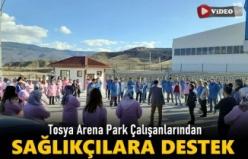 Tosya Arena Park Çalışanlarından Sağlıkçılara Destek