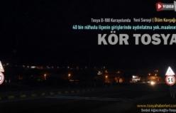Tosya D-100 Karayolu Karanlığa Mahkum Edildi