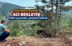Tosya Sekiler Köyünde Traktör Uçuruma Yuvarlandı