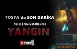 Tosya'da Gece Yarısı Baca Yangını Paniği