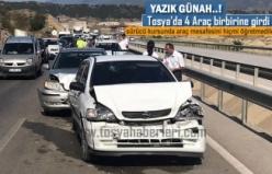 TOSYA D100 KARAYOLU ZİNCİRLEME TRAFİK KAZASI