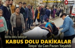 Tosya'da Motosiklet yaşlı kadına çarptı