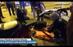 TOSYA İLÇE MERKEZİ MOTOSİKLET KAZASI