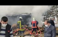 Tosya Marangozlar sitesi yangın