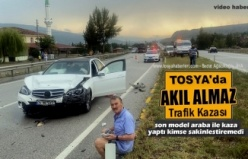 TOSYA D100 KARAYOLUNDA YARALAMALI TRAFİK KAZASI