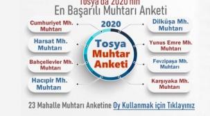 Tosya'da 2020 Yılının En Başarılı Mahalle Muhtarı Sizce Kim