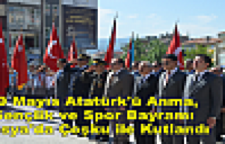 19 Mayıs Bayramı Tosya'da Çoşku içinde Kutlandı