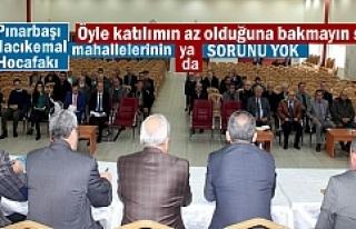 Tosya'da Halkla Buluşma Toplantısı yapıldı