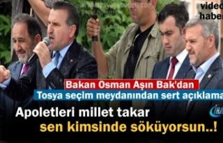 Gençlik ve Spor Bakanı Osman Aşkın Bak Tosya'da...