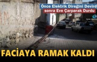 Tosya'da Freni Boşalan İtfaiye Aracı Direği...