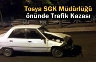 Tosya SGK Müdürlüğü önünde Trafik Kazası