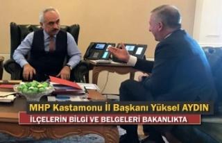 MHP İl Başkanı Belgeleri İçişleri Bakan Yardımcısına...
