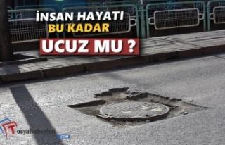 Şehirici Trafiğnde Rögar Kapakları Tehlike Oluşturuyor