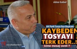 AK Parti Tosya İlçe Başkanı Metin Ekşi'den...