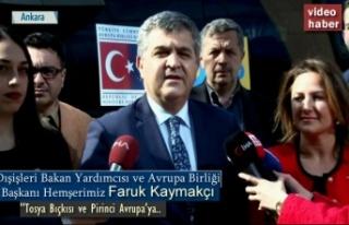 DIŞİŞLERİ BAKAN YARDIMCISI FARUK KAYMAKCI ''...