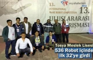 Tosya Meslek Lisesi Robot Yarışmasında ilk 32'ye...