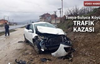 Tosya-Suluca Köyünde Trafik Kazası