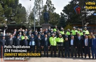 Türk Polis Teşkilatının 174.Yıldönümü Tosya'da...