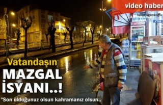 Tosya'da Bakkal Esnafın Mazgal İsyanı