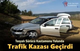 Tosyalı Sürücü Kastamonu Yolunda Trafik Kazası...