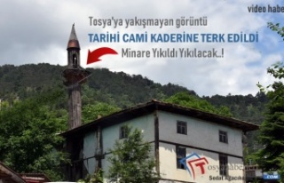 Tosya'da 120 Yıllık Tarihi Cami Kaderine Terk...