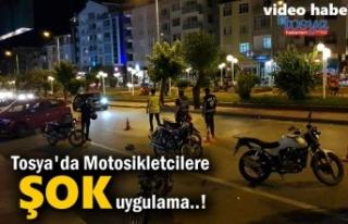 Tosya'da Motosikler Sürücülerine Şok Uygulama