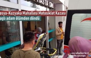 Tosya'da Motosiklet Kazasında Yaşlı Adam Yaralandı