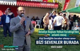 Tosya Belediye Başkanı Volkan Kavaklıgil Güreş...