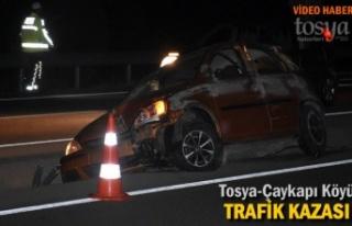 Tosya D-100'de Ototmobil Orta Refüje Düştü