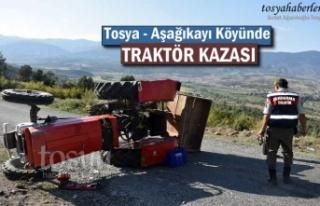 Tosya-Aşağıkayı Köyünde Traktör Kazası