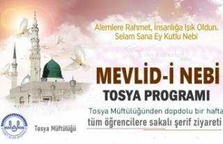 TOSYA'DA MEVLİDİ NEBİ HAFTASI PROGRAMI MÜFTÜLÜK...
